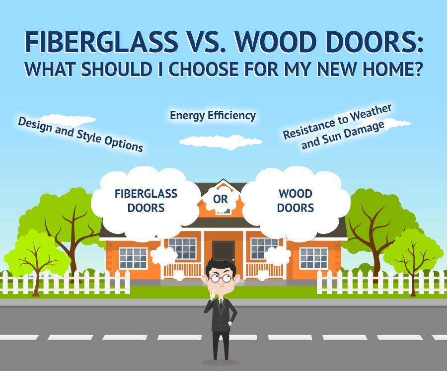 Fiberglass Vs. Wood Doors: What Should I Choose for My New Home?